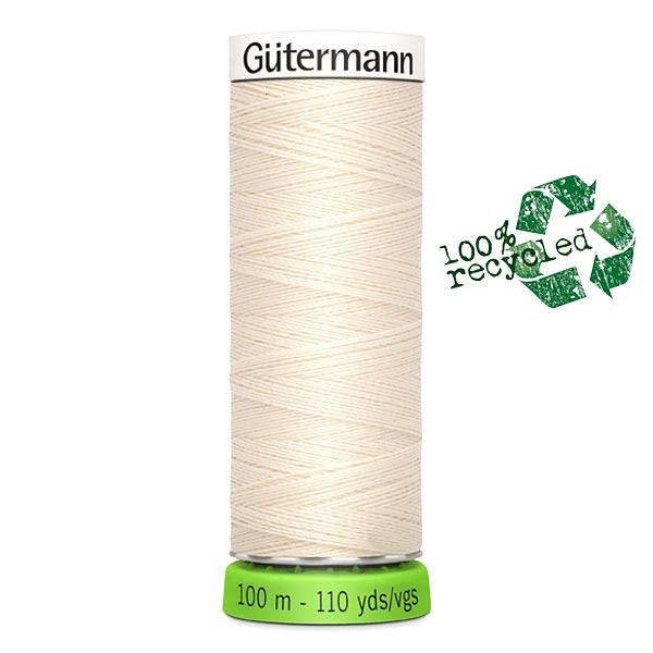 Fil à tout coudre rPET [802] | 100 m  | Gütermann – crème