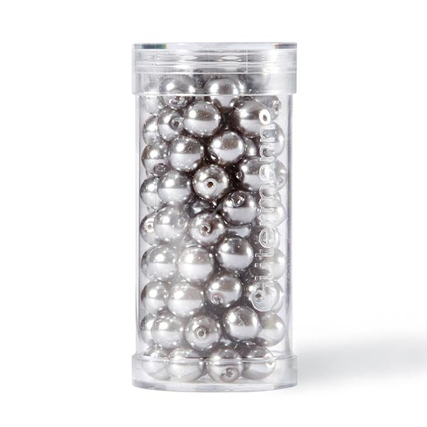 Perles Renaissance [Ø 6 mm | 100 pièces] - gris clair  | Gütermann creativ