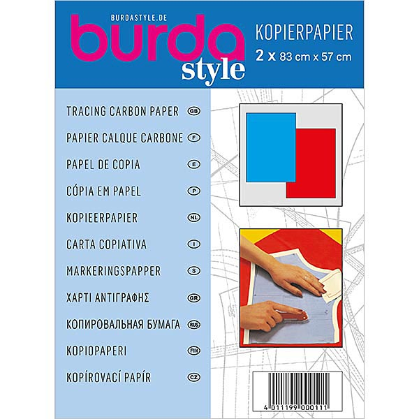 Burda Kopierpapier - blau/ rot