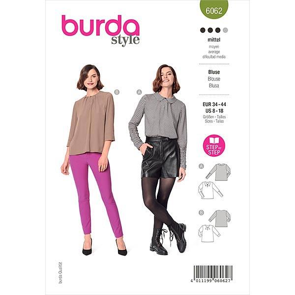 Bluse, Burda 6062 | 34-44