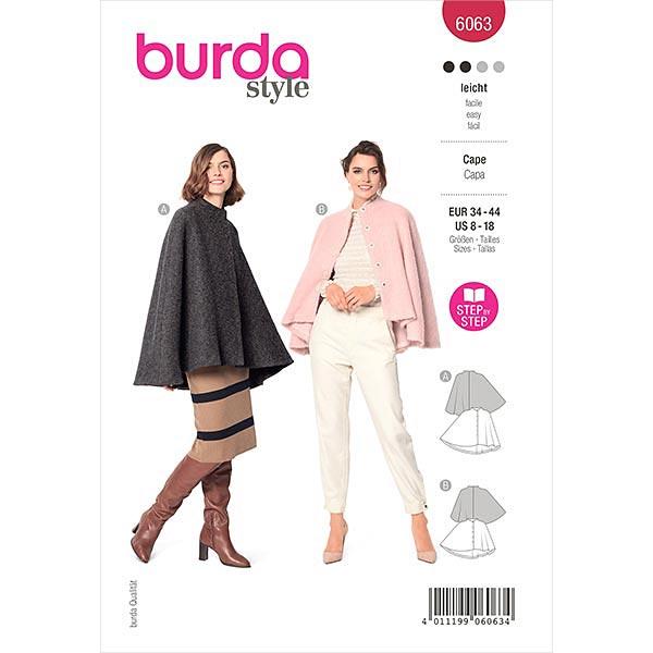 Cape, Burda 6063   34-44
