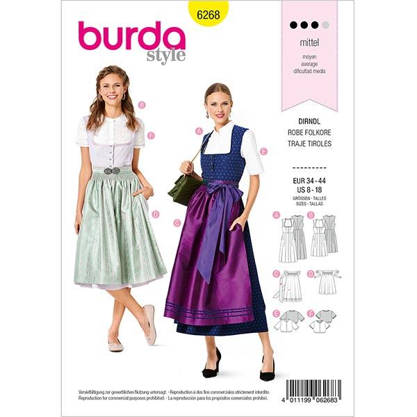 Dirndl, Burda 6268 | 34-44