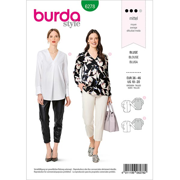 Chemisier, Burda 6278 | 36-46
