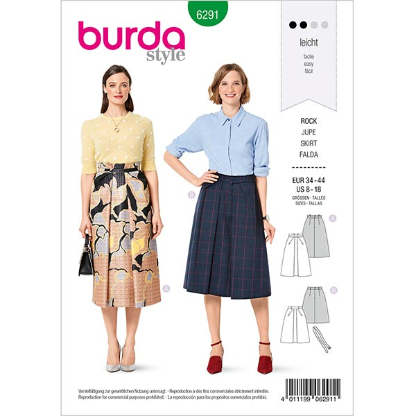 Jupe, Burda 6291 | 34-44