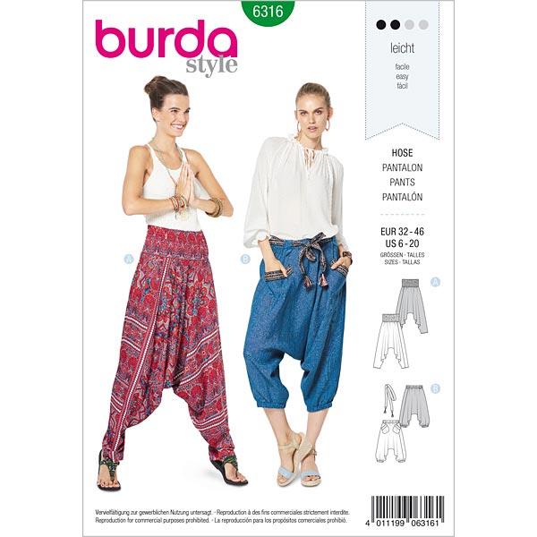 Pantalon, Burda 6316 | 32 - 46