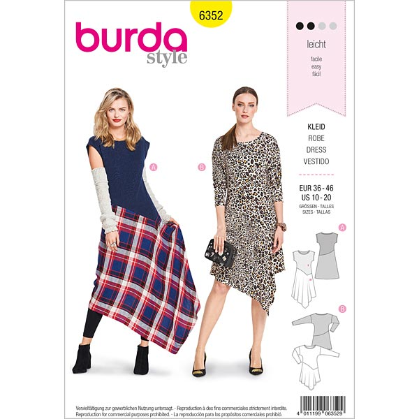Robe, Burda 6352 | 36 - 46