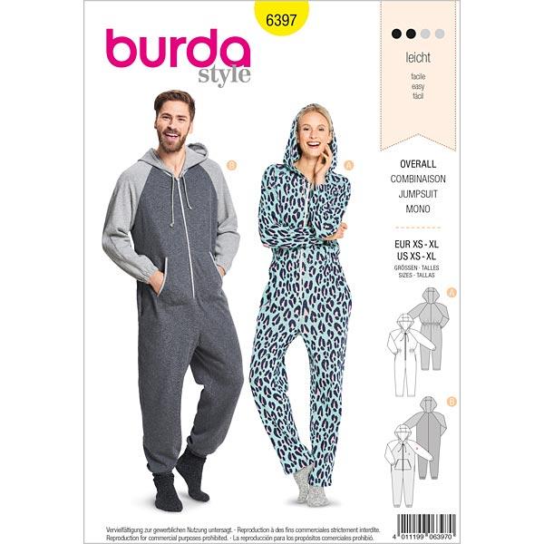 Combinaison, Burda 6397 | 32 - 50| 44 - 56