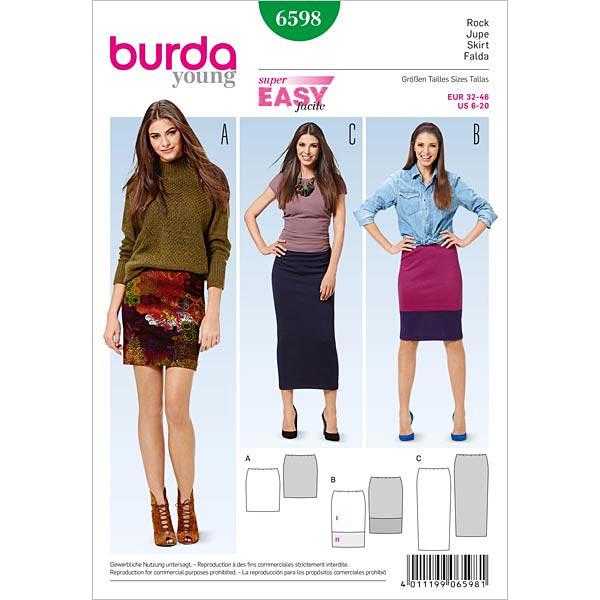 Jupe, Burda 6598