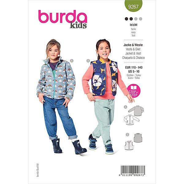Jacke, Burda 9267   110-140