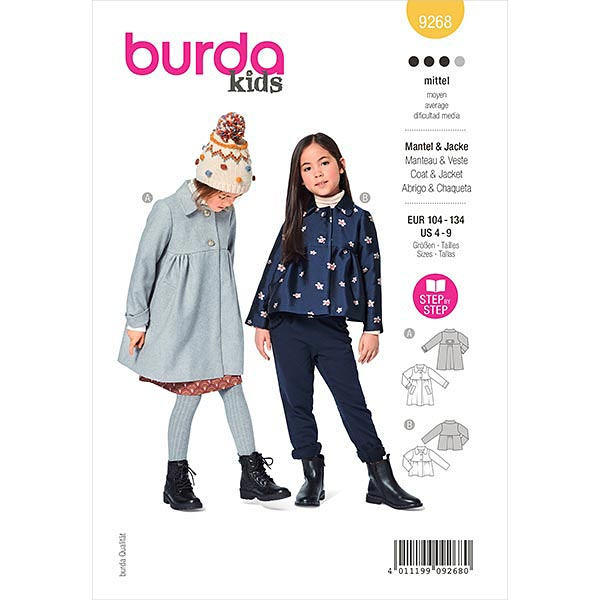 Mantel, Burda 9268 | 104-134