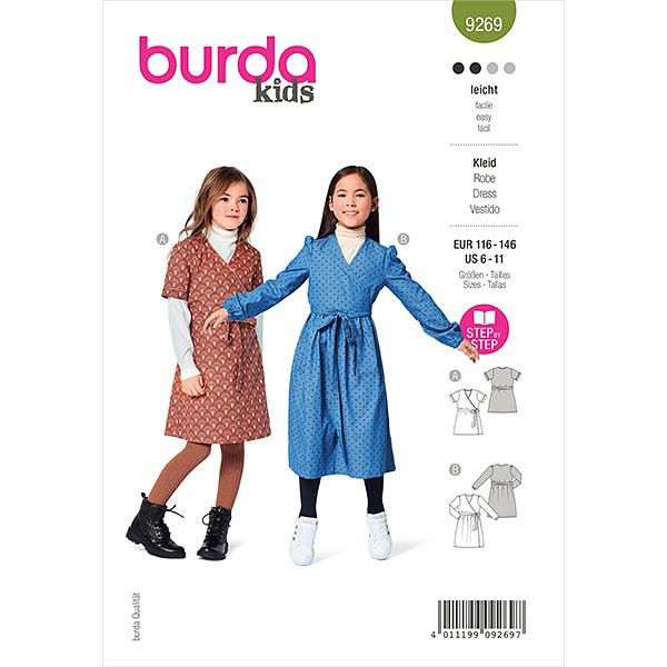 Wickelkleid, Burda 9269 | 116-146