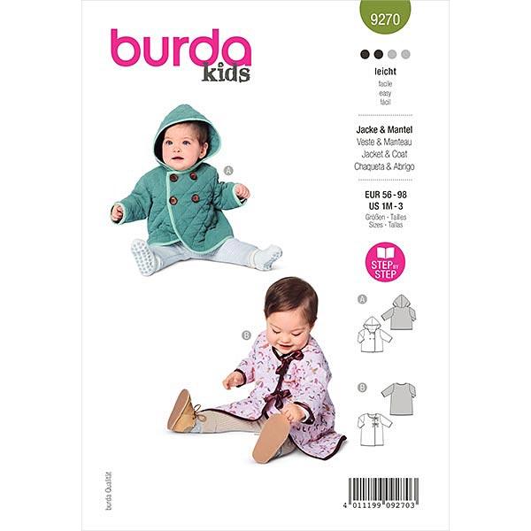 Jacke, Burda 9270 | 56-98