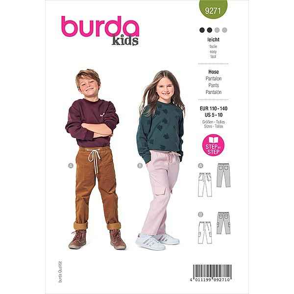 Schlupfhose, Burda 9271   110-140