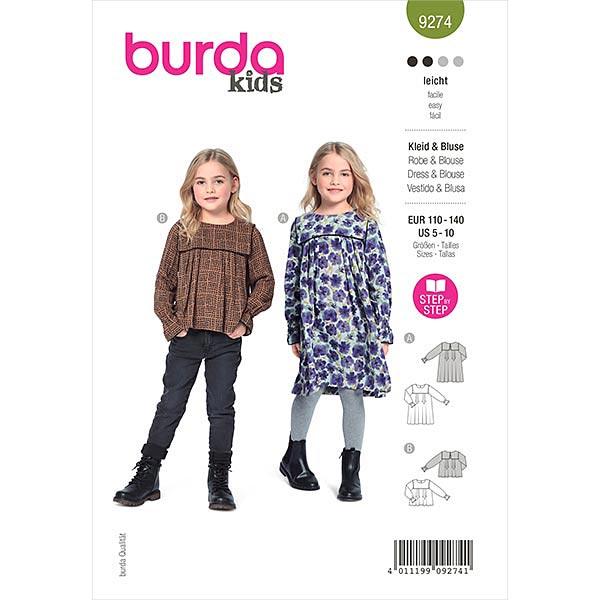 Kleid, Burda 9274 | 110-140