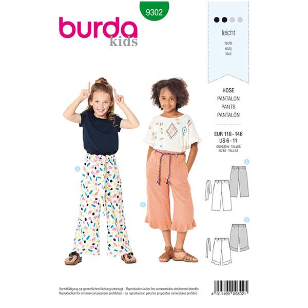 Culotte, Burda 9302   116 - 146
