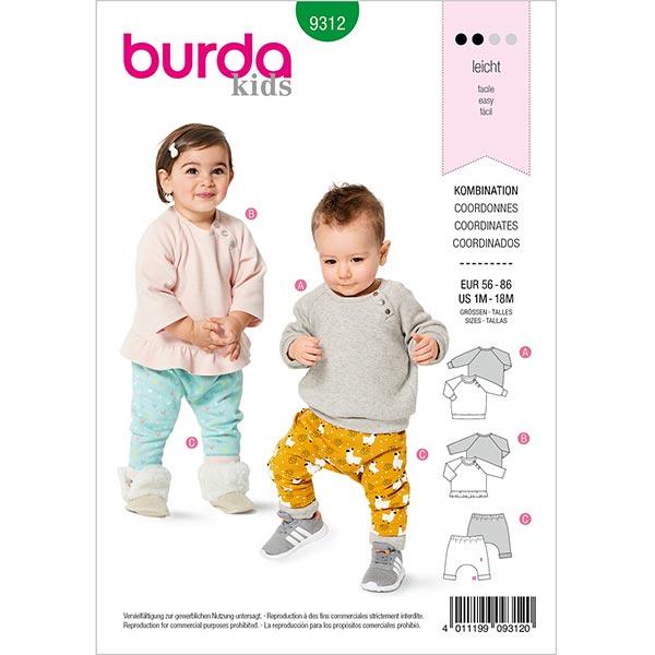 Haut/Pantalon, Burda 9312 | 56-86