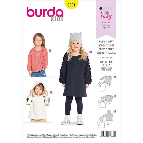 Robe shirt | Sweater | Hoodie, Burda 9331 | 92 - 122