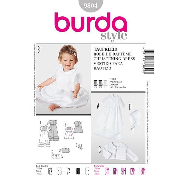 Robe de baptême, Burda 9804