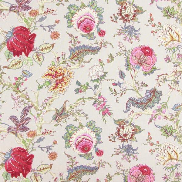 Tissu en coton Deco Ceylan 32 – sable/rose vif