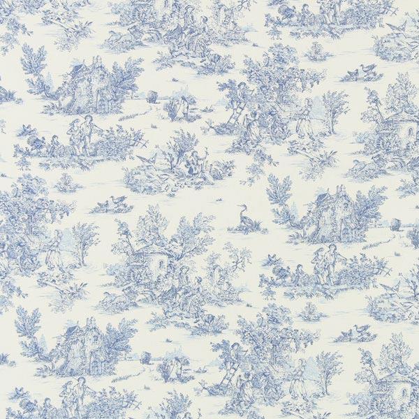 Baumwollstoff kleine Pastorale 2 - blau