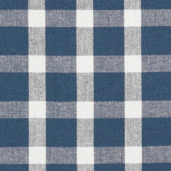 Tissu de décoration Tissu coton Carreaux – bleu