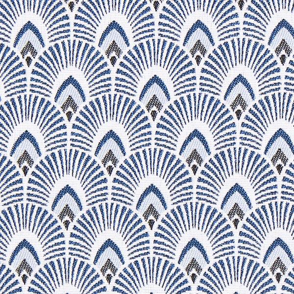 Jacquard Écaille – bleu marine