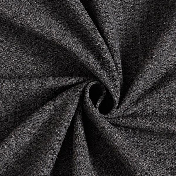 Tissu pour complets en laine mélangée – anthracite