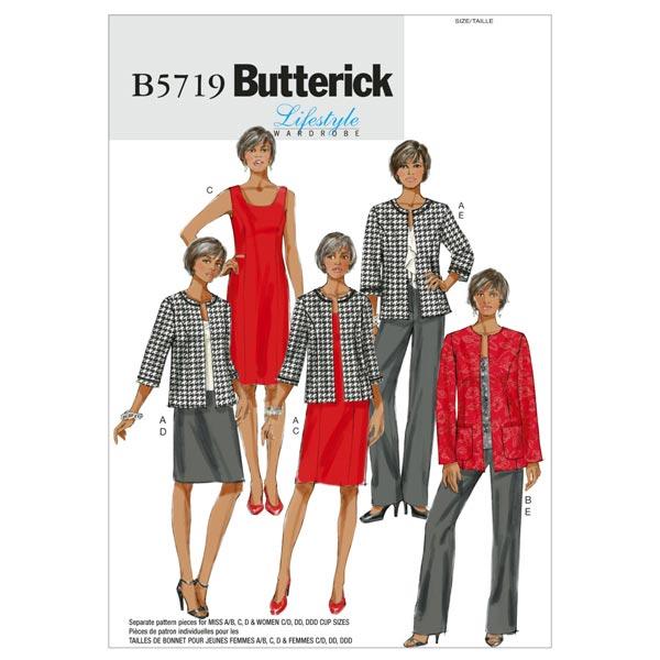 Veste Robe Jupe Pantalon, Butterick 5719 44 - 50