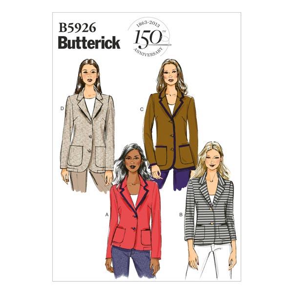 Blazer, Butterick 5926|42 - 50