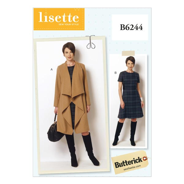 Manteau Robe, Butterick 6244 44 - 50