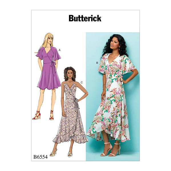 Robe portefeuille, Butterick 6554 | 32 - 40