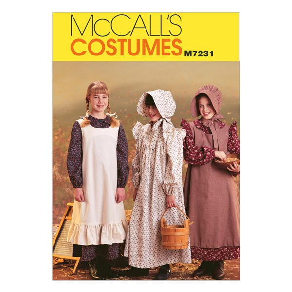 Costumes de pionnier, McCalls 7231 | 128 - 134 |