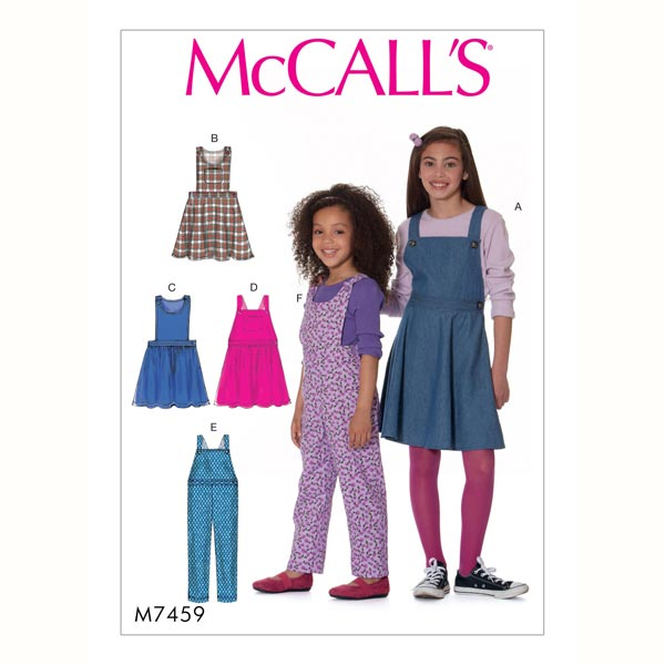 Robe|Salopette fille, McCalls 7459 | 94 - 122