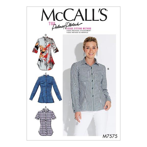 Chemisier, McCalls 7575 | 34 - 42