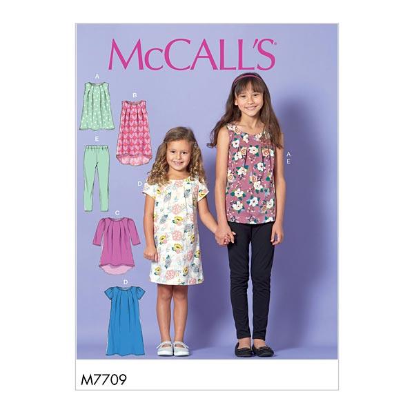 Haut Fille   Robe   Leggings, McCalls 7709   128 - 152