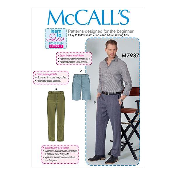 HommesPantalon/Short, McCall's 7987   40-46