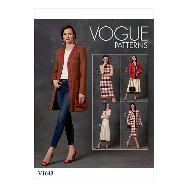 Robe/Jupe/Manteau, Vogue 1643   32-40