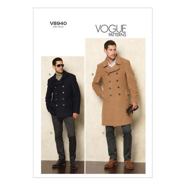 Veste Manteau, Vogue 8940   44 - 56