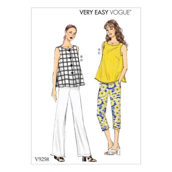 Top   Pantalon, Vogue 9258   34 - 42