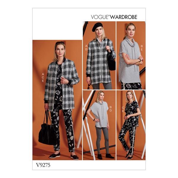 Veste | Tunique | Pantalon |Leggings, Vogue Wardrobe 9275 |  32 - 40