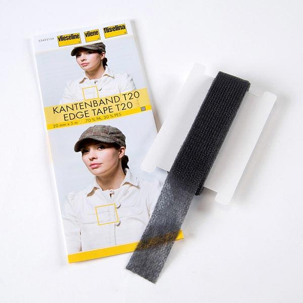 Kantenband T20 [5 m x 20 mm] - anthrazit | Vlieseline