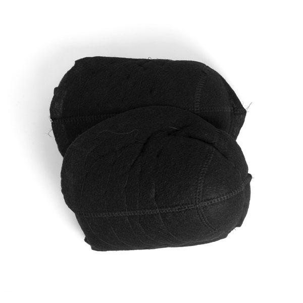 Schulterpolster mit Klett für Mäntel & Jacken [24 x 16 cm] - schwarz | YKK