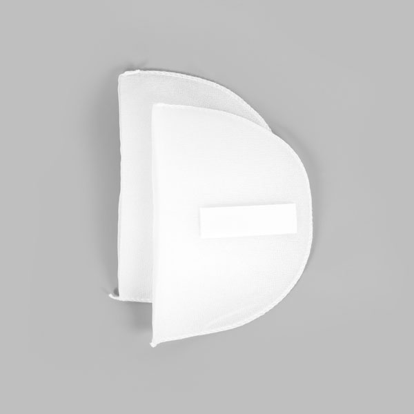 Schulterpolster mit Klett für Raglan Blusen & Kleider [16,5 x 11 cm] - weiss   YKK