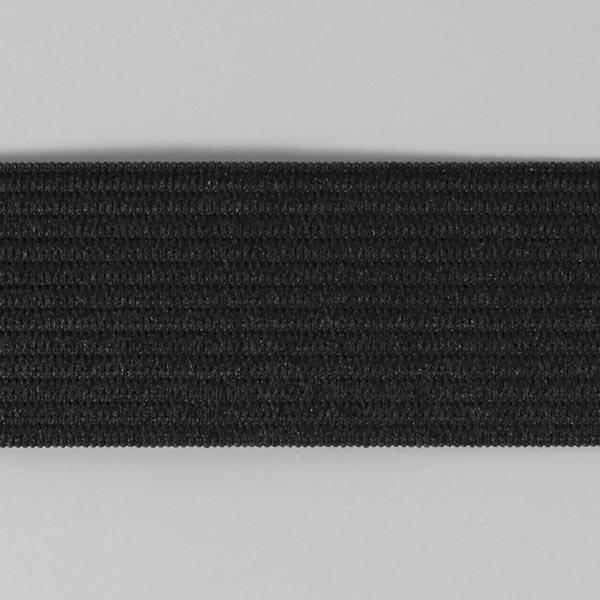 Bande en caoutchouc lisse 580 – noir | YKK