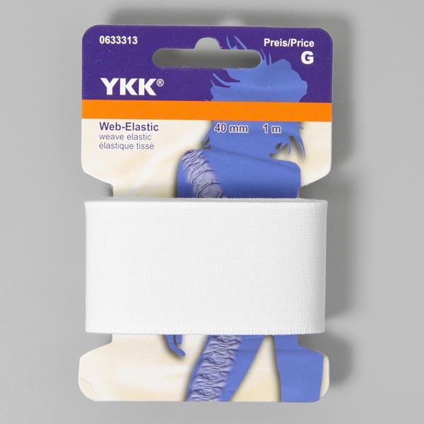 Élastique tissée 501 – blanc | YKK