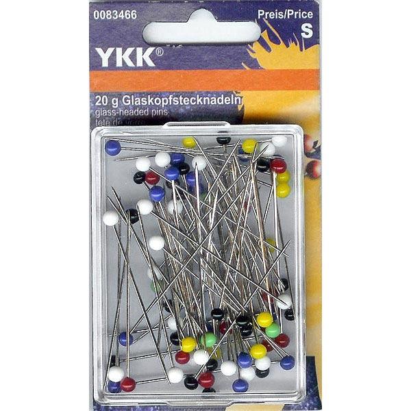 Épingles à tête de verre longues longues [20 g] | YKK