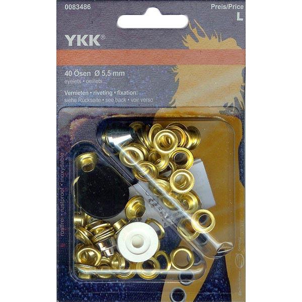 Œillets métalliques 4 – or | YKK