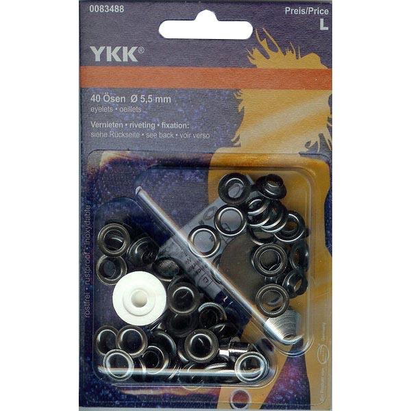 Œillets métalliques 1 – noir | YKK