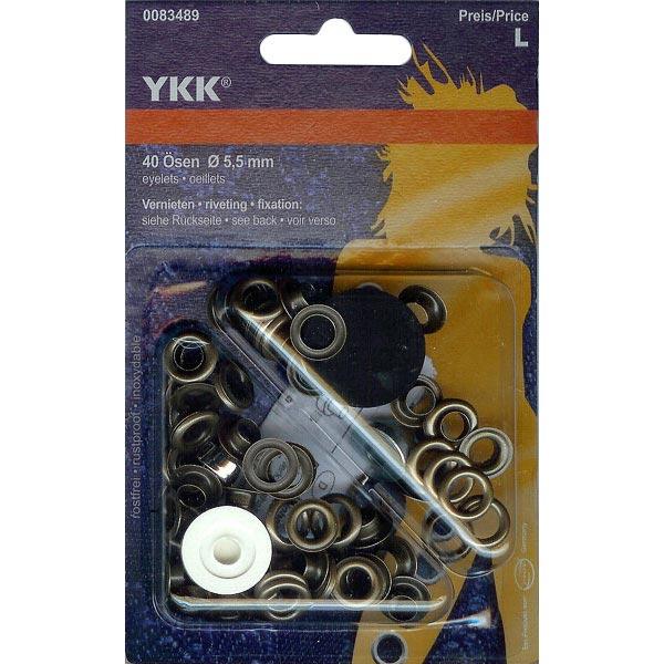 Œillets métalliques 3 – marron moyen | YKK