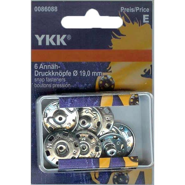 Bouton-pression à coudre métal 2 – argent | YKK